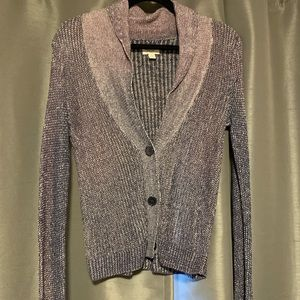 ✨2/10$✨ distressed purple cardigan